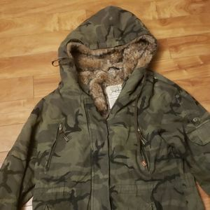 Zara Trafaluc collection faux fur lined jacket